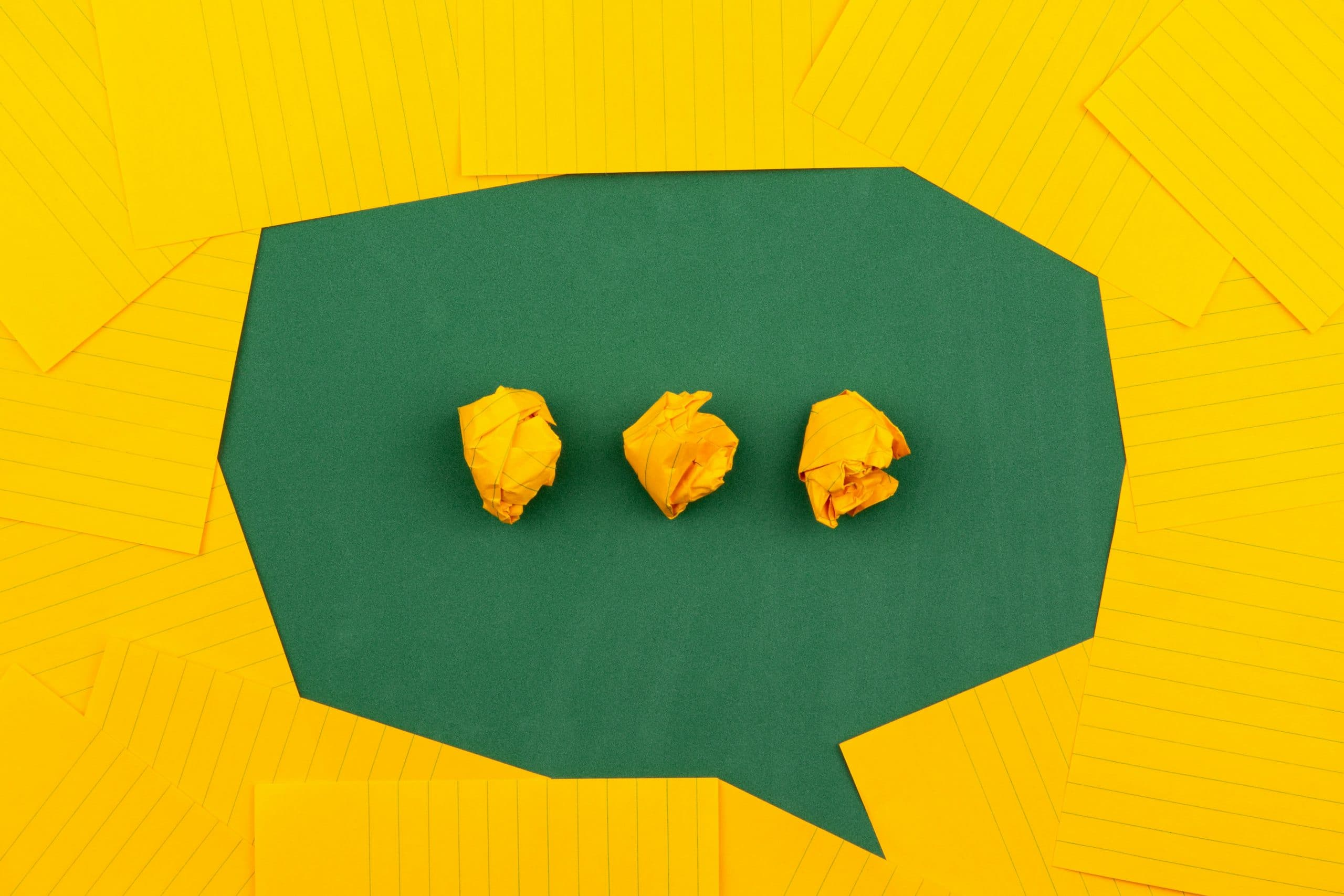 Live chat widget made out of folded paper